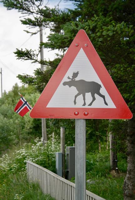 Eland verkeersbord
