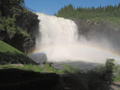 Zweden Tannforsen waterval