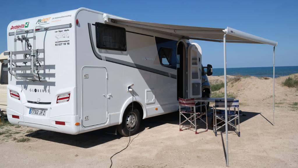 McRent camper in Spanje