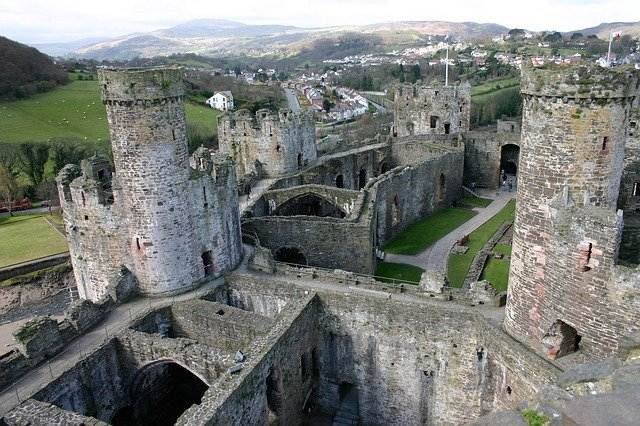 Wales Conwy kasteel