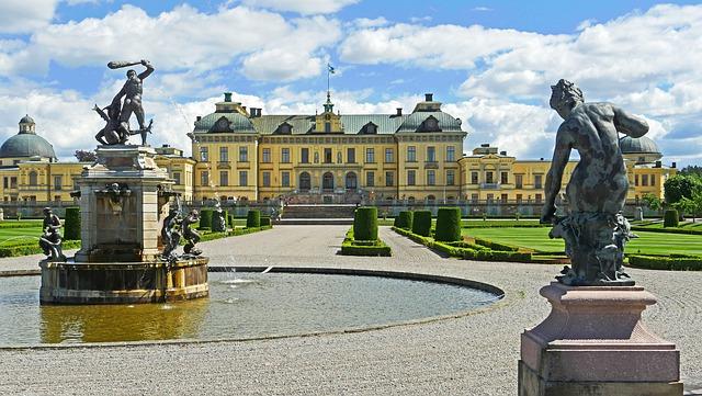 Zweden Stockholm Drottningholm paleis