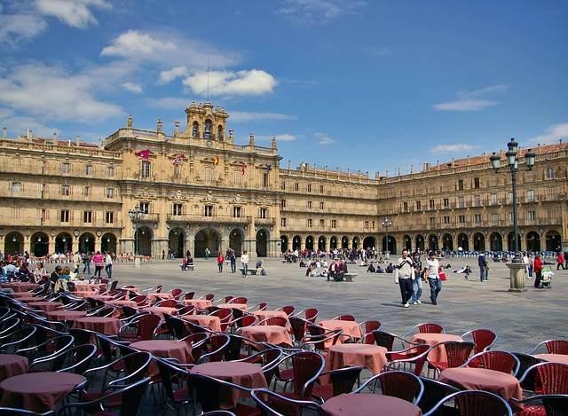 Spanje Salamanca Plaza Mayor